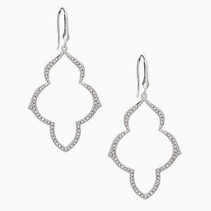 Stella & Dot Jewelry - Stella & Dot Pave Arabesque Chandeliers Silver